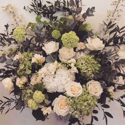 Arrangement in Greens and Whites